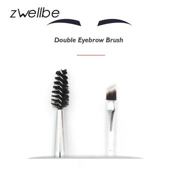 zwellbe Double Eyebrow Brush+Eyebrow Comb Beauty Cosmetic Brush Eyebrow Makeup Brushes for EyeBrow Brush Blending Eye Mascara