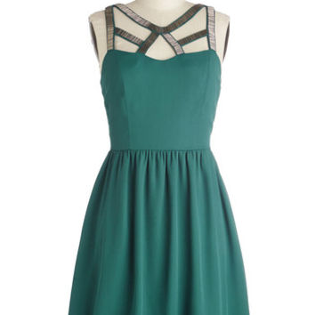 ModCloth Mid-length Sleeveless A-line Cutout Among the Stars Dress