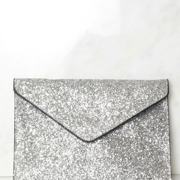 Silver Sparkle Clutch