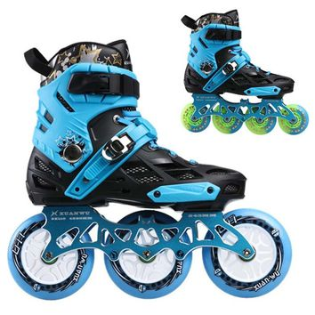 3 wheels 110mm Adult Roller Skates Shoes Speed Skating 4 Wheel 80mm Slalom FSK Skate Patines for Powerslide for Cityrun For SEBA