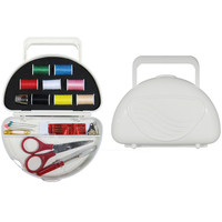 Hampton Direct 22 PCS Portable Travel Sewing Kit With Carrying Case