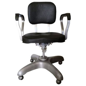 Pre-owned Vintage Mid-Century Modern Swivel Office Chair