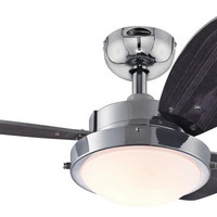 Wengue 30-Inch Reversible Three-Blade Indoor Ceiling Fan