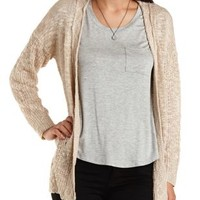 Slub Knit Open Front Cardigan Sweater by Charlotte Russe