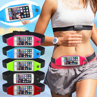 Universal Waterproof Sport GYM Waist Bag Phone Case for iPhone 7 6 6S Plus SE 5G 5C 4G Outdoor Workout Running Pouch Accessories