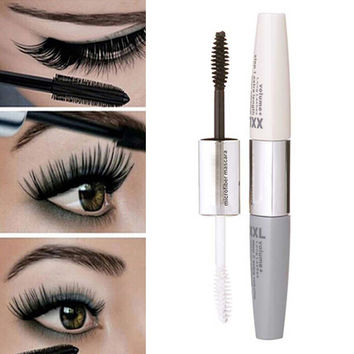 Women's Makeup Waterproof Black 3D Mascara Fiber Eyelash Extension Curling+ Gift Box