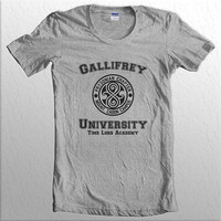 Gallifrey University Time Lord Academy women short sleeves t-shirt tee