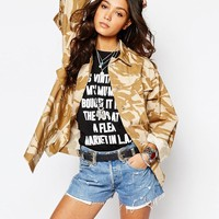 Reclaimed Vintage | Reclaimed Vintage Lightweight Jacket In Desert Camo at ASOS