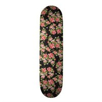 Elegant vintage floral victorian pink roses custom skateboard from Zazzle.com