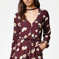 Kendall and Kylie Cutout Front Long Sleeve Romper at PacSun.com