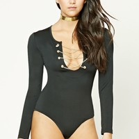 Chain-Link Heart Bodysuit