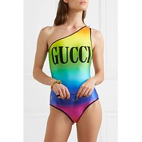 Gucci swimsuit queen's series ultra slim explosions are the most in - line fashion