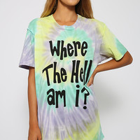 Jac Vanek - Where The Hell Am I Perfect Tee - Tie Dye