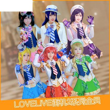 Love Live Flower Ver Cos Dress Cosplay Costume Demon