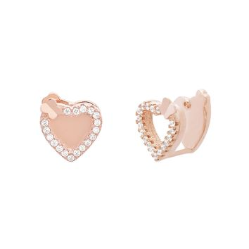 Chloe Heart Cuff Earrings