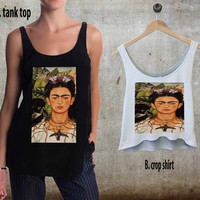 Frida Kahlo For Woman Tank Top , Man Tank Top / Crop Shirt, Sexy Shirt,Cropped Shirt,Crop Tshirt Women,Crop Shirt Women S, M, L, XL, 2XL**