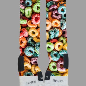 Custom Nike Elite Socks - Froot Loops Nike Elites - Socktimus Prime -Custom Elites, Nike Elites, Custom Nike Elites, Fruit Loops