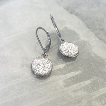 Oxidized Silver Druzy Earrings, Silver Druzy Earrings, Silver Druzy Dangles, Druzy Earrings, Druzy Dangles, Silver Druzy, Silver Earrings