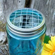 Set of 2 Wide Mouth Mason Jar Flower Frog by CreativeCorksNMore