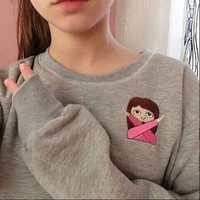 Women Fashion Autrumn Printing Hoodies Sweatshirts = 1782334532