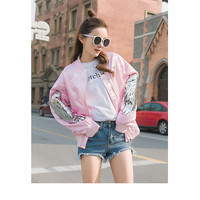 Buy PURO Wing Sequined Baseball Jacket | YesStyle
