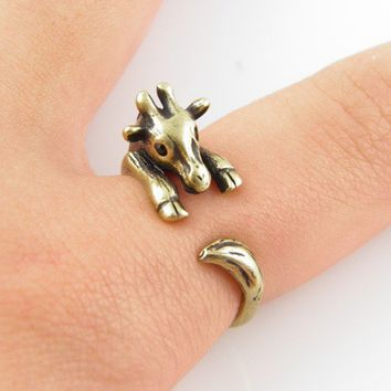 Gold Giraffe Wrap Ring | KejaJewelry - Jewelry on ArtFire
