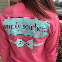 """Simply Southern """"The Tie That Binds Us"""" Longsleeve - Pink"""