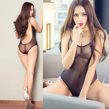 Sexy Fishnet Bodysuits Four Colors Catsuit Mesh Transparent Body Suits For Women Hollow Leotard Thong Sexy Fishnet Bodysuits
