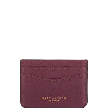 Marc Jacobs Gotham Leather Card Case, Iris