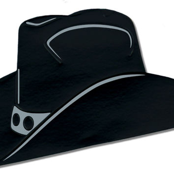 Foil Cowboy Hat Silhouette - Black Case Pack 24