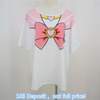 DEPOSIT Only! Pre-order for Plus Size Chibi Moon T-shirt SP141161