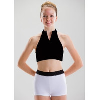 Motionwear Zip Front Halter Bra Top