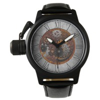 Grunge Steampunk Clocks and Gears Wristwatch