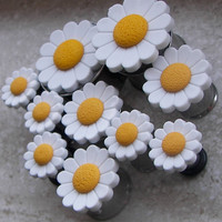 "Daisy Plugs - Available in sizes 2g, 0g, 00g, 7/16"", 1/2"", 9/16"", 5/8"", 3/4"", 7/8"" & 1"""
