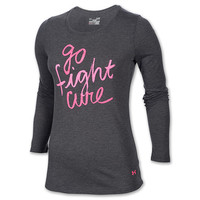 Women's Under Armour PIP Go Fight Cure Long Sleeve Shirt