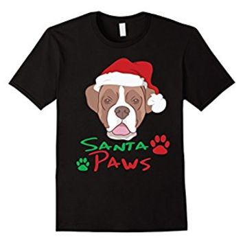Santa Bulldog Dog T-shirt - Funny Christmas Santa Paws Shirt