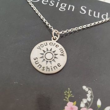 You are my sunshine necklace.