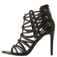 REPORT SIGNATURE STRAPPY CAGED HEELS