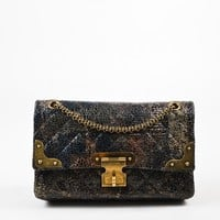 Chanel Special Edition Grey Coated Lacquered Tweed Gold Hardware Crossbody Bag