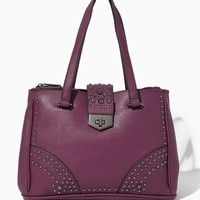 Madison Studded Buckle Satchel | Handbags | charming charlie