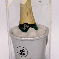 Scented Candle Favors, 4-inch, Champagne Bottle Bucket, Black