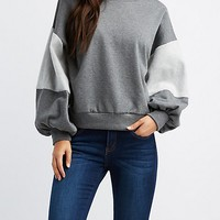 Hacci-Trim Pullover Sweater | Charlotte Russe