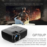 Android 4.4 Mini LED Projector 1080P HD Projector with Google Play 1G RAM 8G ROM Support Bluetooth Wifi TV Beamer GP70UP Home Theater Movie