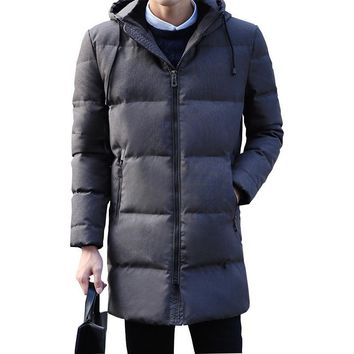 Trendy 90% White duck down hooded men down jacket men's winter thick warm down jacket overcoat jacket parka men windbreaker coats AT_94_13