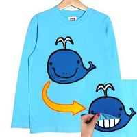 smilekids | Cute Whale Boys Animal Graphic Cotton Tee in Blue for Ages 1 to 7 years | Online Store Powered by Storenvy