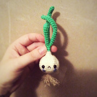 Sad onion - handmade amigurumi toy