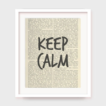 Keep Calm Poster, Inspirational Print, Relax Quote, Printable Art Decor, Instant Download