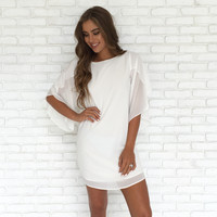 Angel Of Mine Dress In White