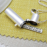 Personalised Secret Message Pendat