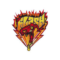 The Flash Flames Running Iron-On Patch